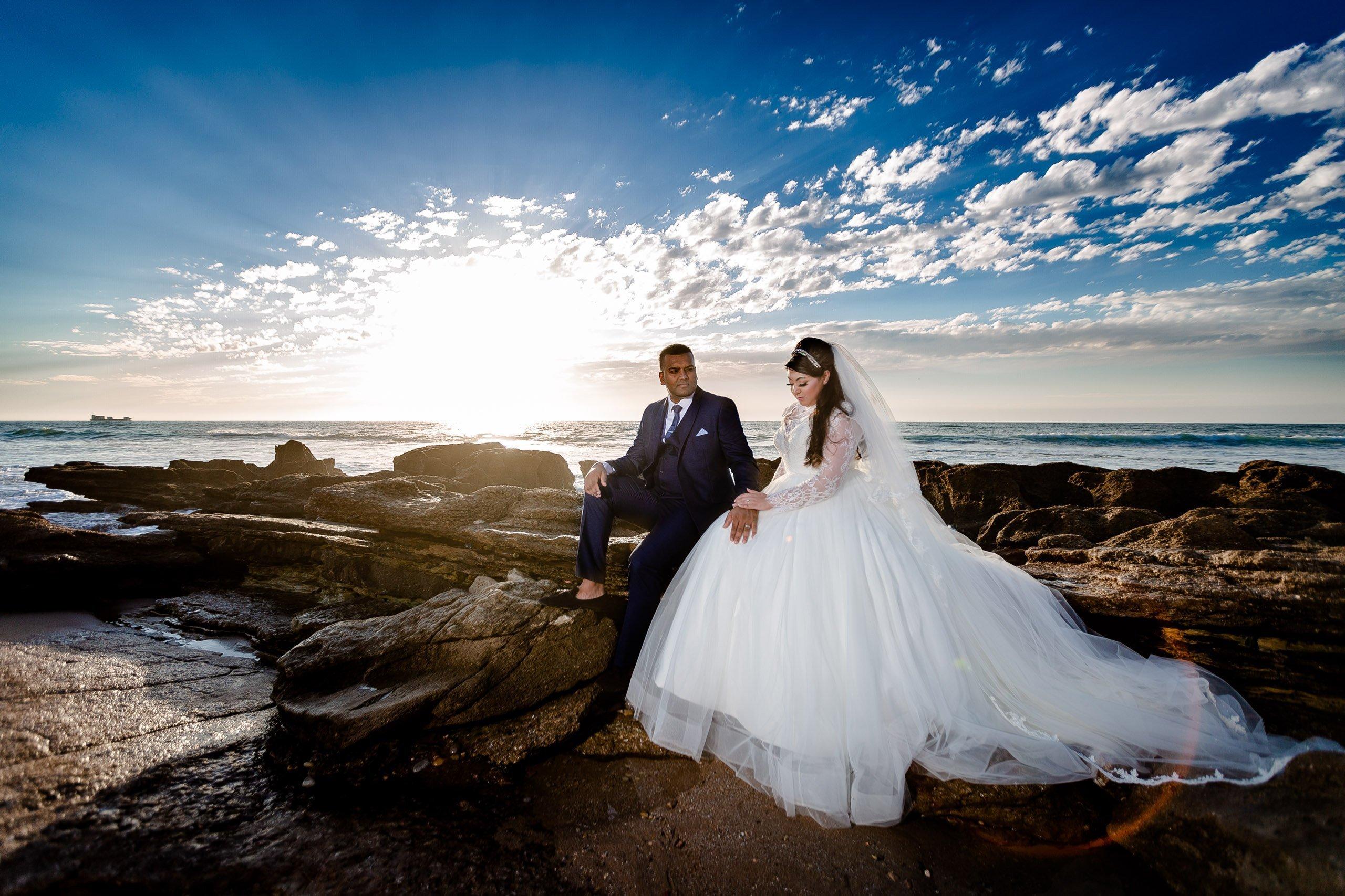 Couple photography on Agadir's beach