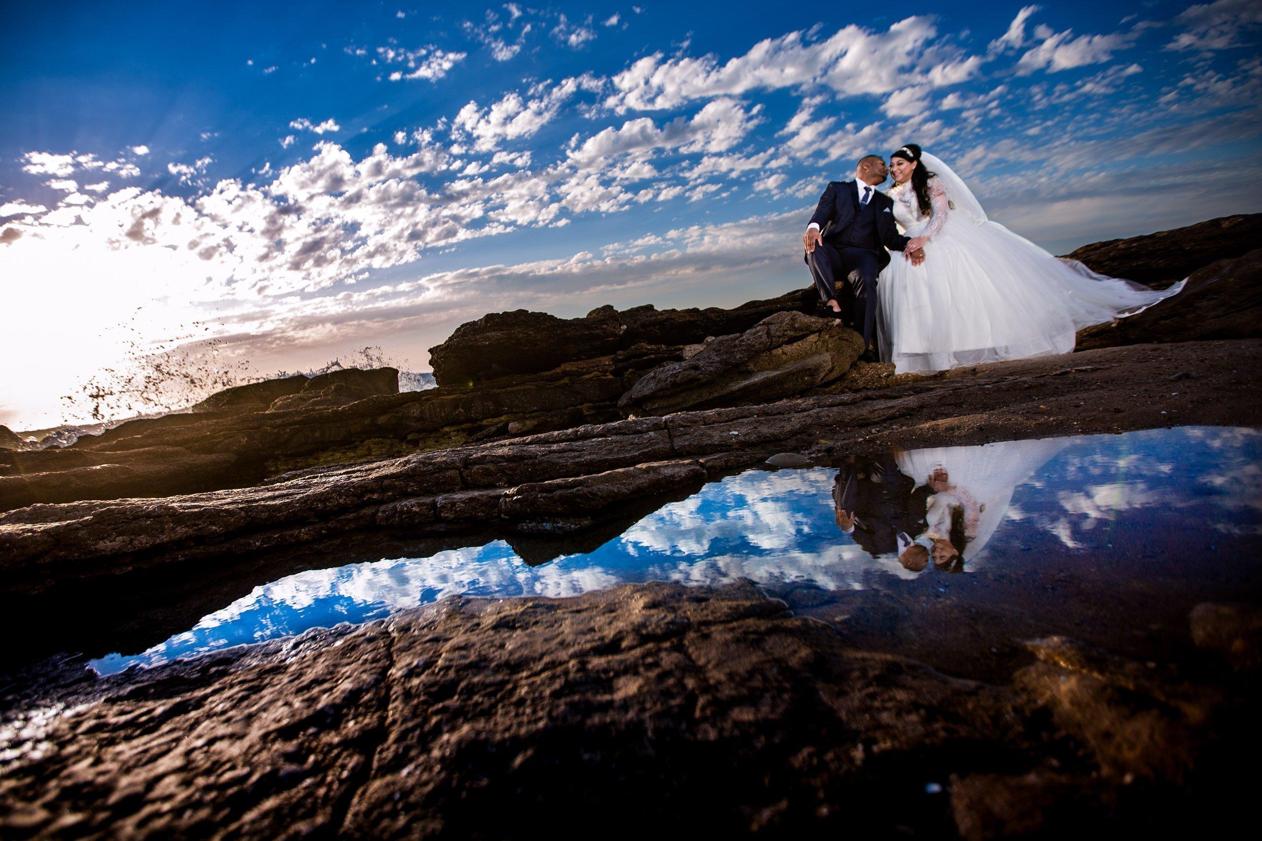 Beautiful wedding photography on Agadir's beach