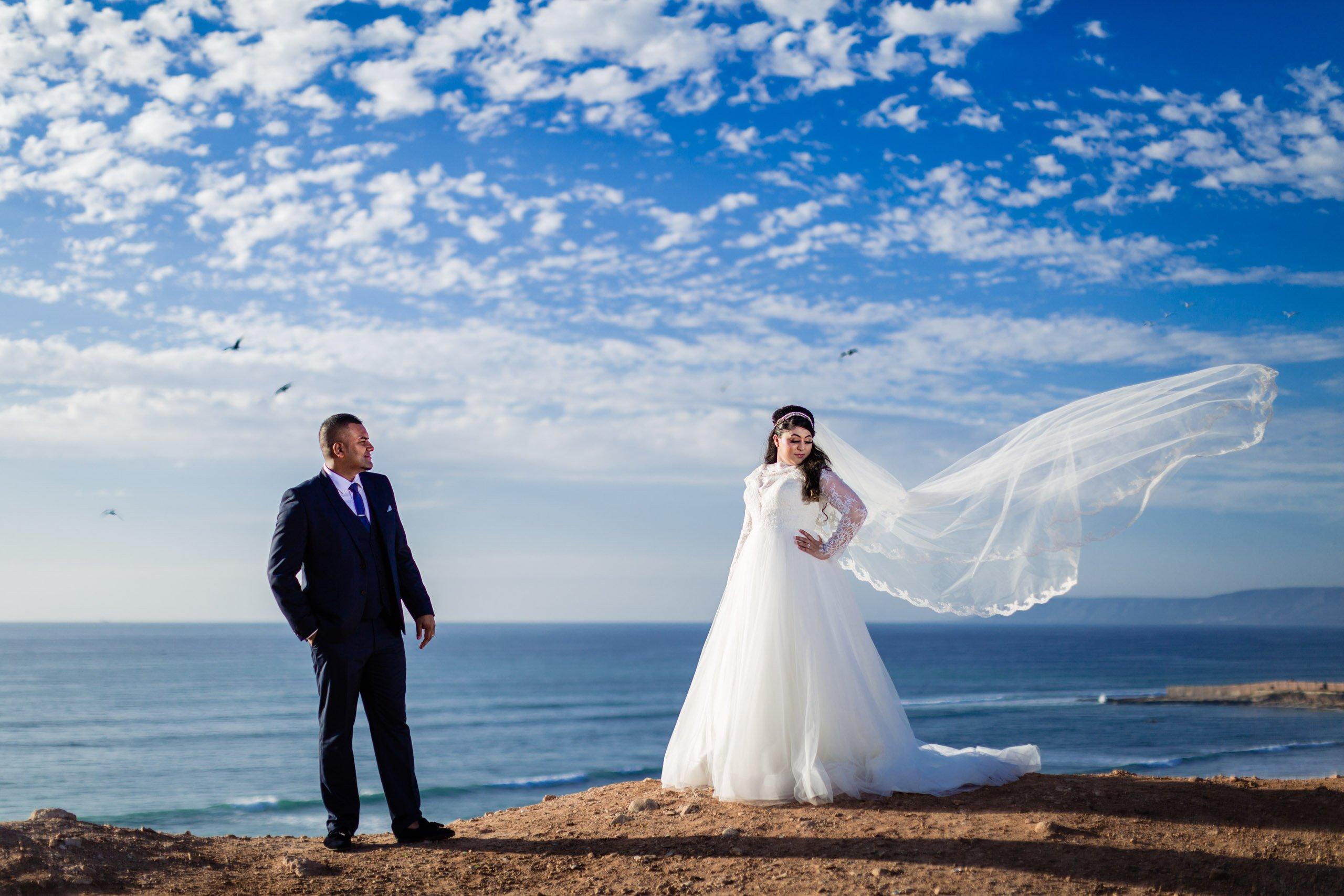Couple photoshoot at Agadir beach