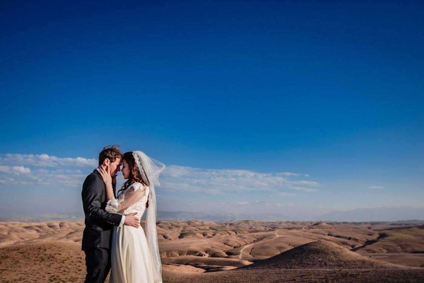 Beautiful Destination Wedding photography in Agafay Desert
