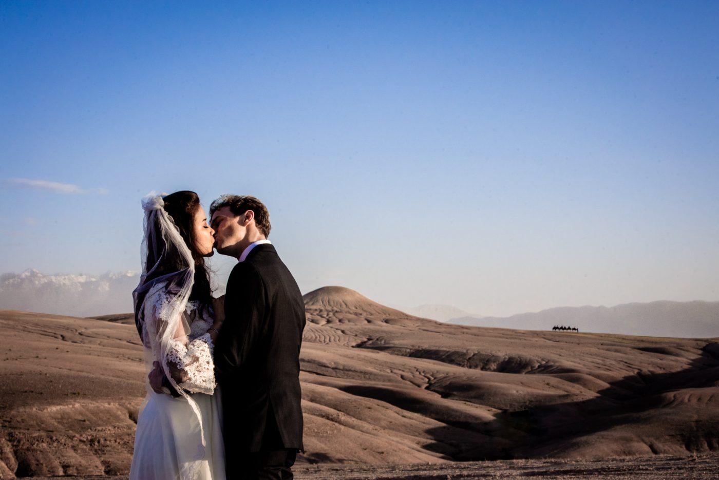 Beautiful Destination Wedding photography in Agafay Desert marrakech.