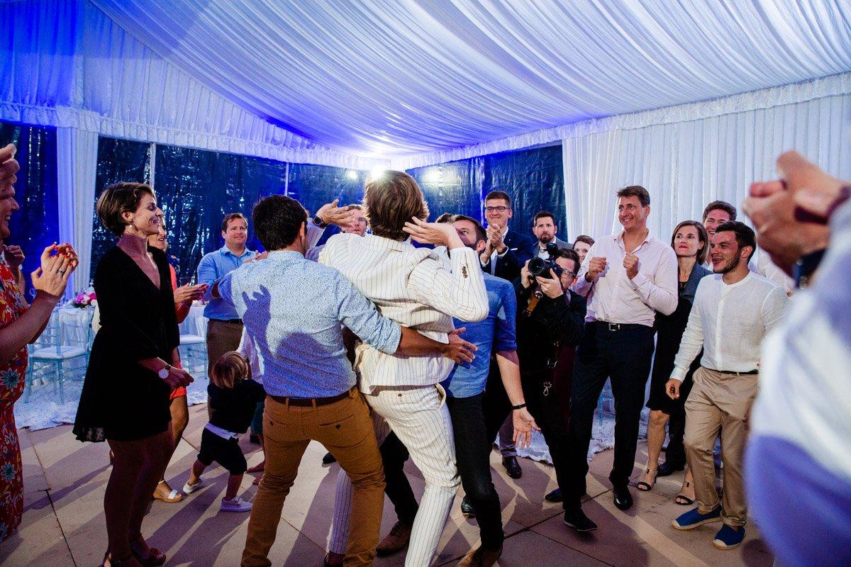 Dancing photos at wedding reception at Paradis Plage